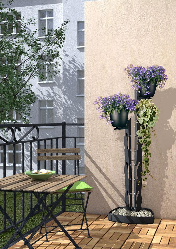 presentyourplants Blumenständer Pflanzenständer Außenbereich Balkon Terrasse Balkonpflanzen Efeu