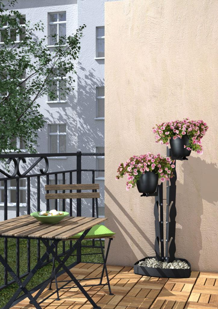 presentyourplants Blumenständer Pflanzenständer Außenbereich Balkon Terrasse Balkonpflanzen Ampelpflanzen Petunien